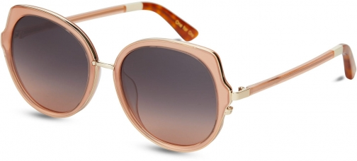 Toms Lottie Blush With Navy Pink Gradient Lens Sunglasses