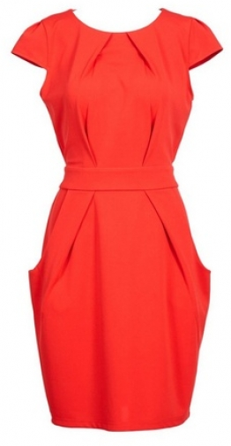 Dorothy Perkins Womens *Blue Vanilla Red Pleat Detail Tulip - Red, Red Bodycon Dress