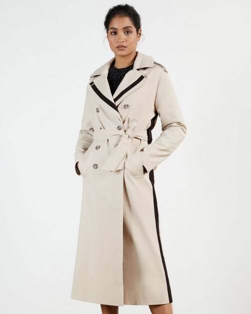 Ted Baker Contrasting Detailed Trench Coat