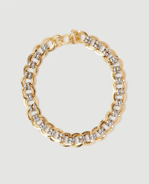 Ann Taylor Mixed Metal Chain Link Necklace