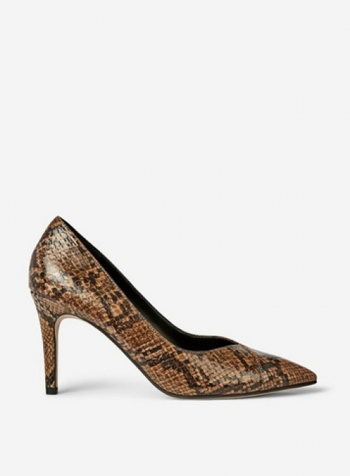 Dorothy Perkins Brown Snake Print 'Dash' Shoes Court