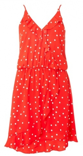 Dorothy Perkins Womens **Only Red Ruffle Wrap - Red, Red Dress