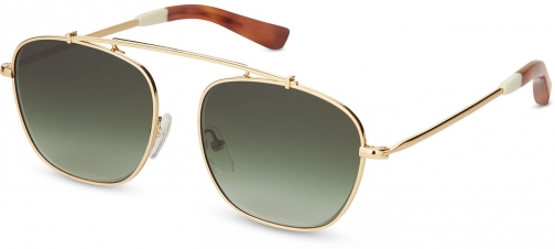 Toms Riley Gold With Olive Green Gradient Lens Sunglasses