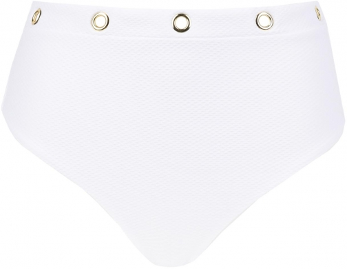 Calzedonia - Marzia Detialed High-waisted Bottoms, S, White, Women Ring
