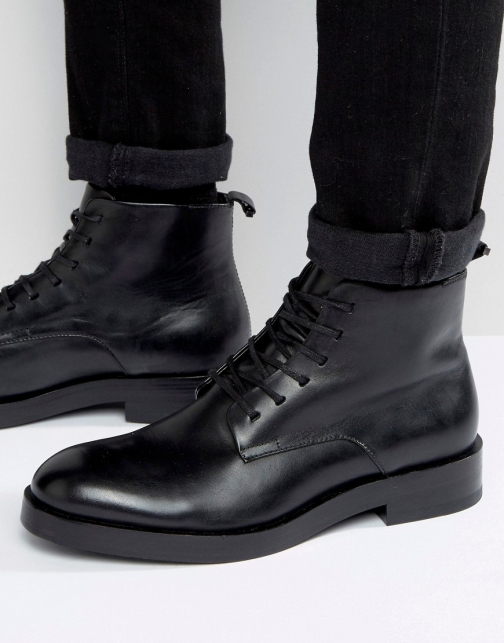 Calvin Klein Read Leather Lace Up Boot