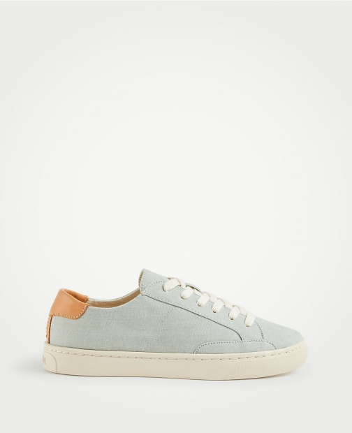 Ann Taylor Soludos Chambray Ibiza Classic Sneakers Trainer