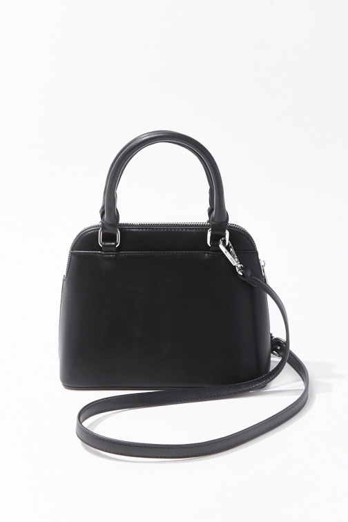 Forever21 Forever 21 Convertible Faux Leather , Black Satchel