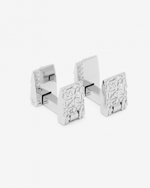Ted Baker Geometric Detail Silver Colour Cufflink