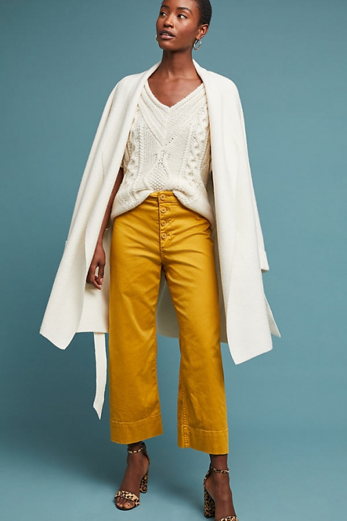 Anthropologie Cropped Trousers Chino