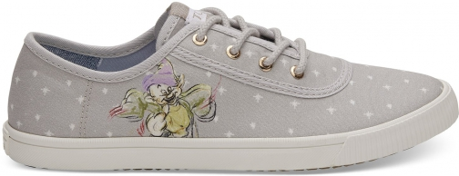 Toms Disney X TOMS Grey Seven Dwarfs Women's Carmel Sneakers Topanga Collection Shoes Trainer