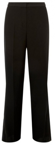 Dorothy Perkins Womens Black Piped - Black, Black Wide Leg Trouser