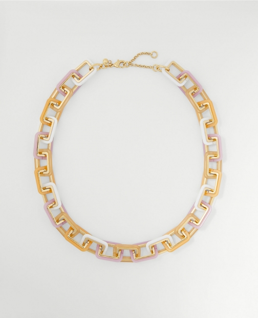 Ann Taylor Rectangle Link Statement Necklace