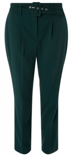 Dorothy Perkins Womens Green Belted - Green, Green Tapered Trouser