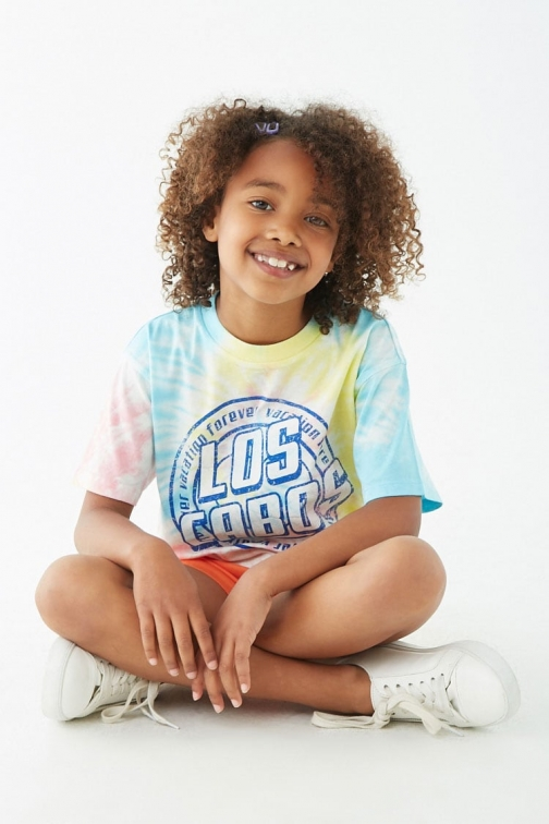 Forever21 Girls Forever 21 Girls Los Cabos Graphic Tee (Kids) , White/multi T-Shirt