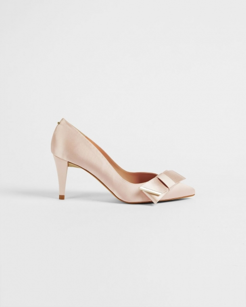 Ted Baker Satin Bow Mid Heel Court