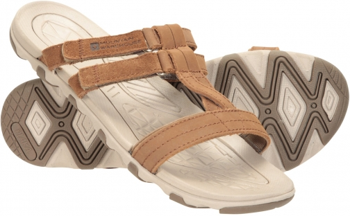 Mountain Warehouse Cruise Womens Leather Sandal - Brown Sandals
