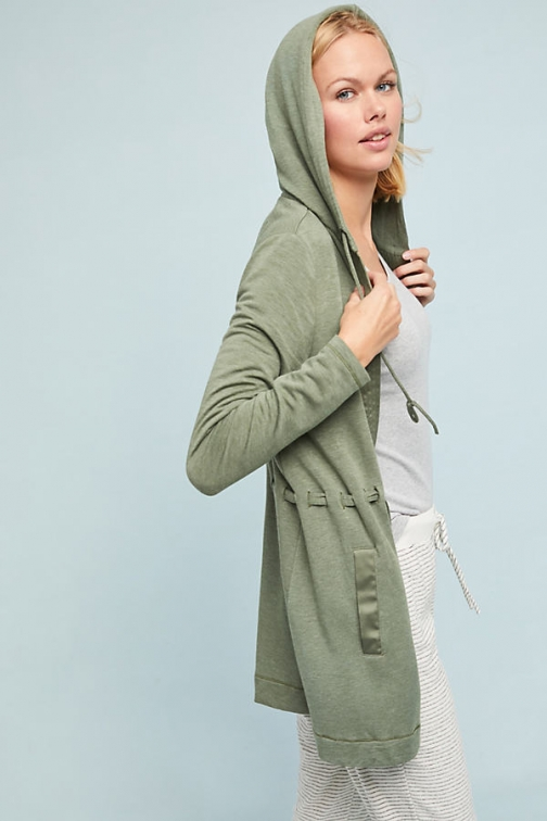 Anthropologie Harley Hooded - Green, Size Cardigan