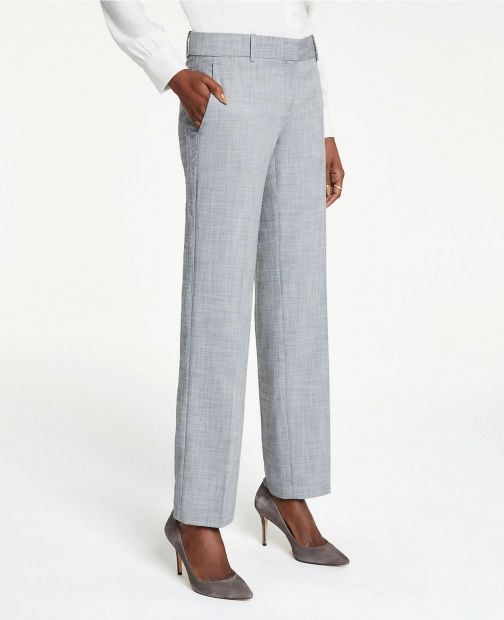 Ann Taylor The Straight Pant Crosshatch Suit