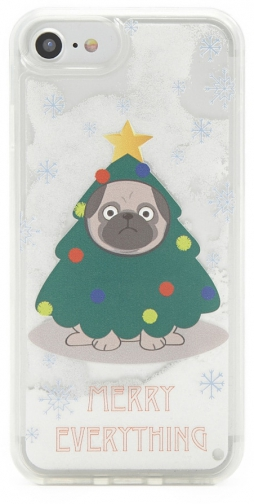 Forever21 Forever 21 Christmas Pug Phone For IPhone 6/7/8 White/multi Case