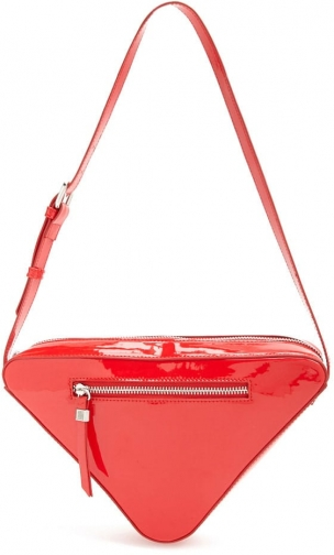 Forever21 Forever 21 Faux Patent Triangle , Red Bag