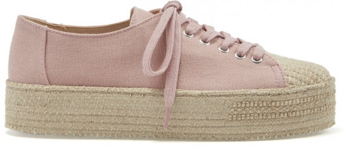 Schutz Shoes Ully Sneaker - 5 Poppy Rose Canvas Fabric Shoes