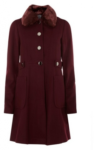 Dorothy Perkins Womens **Tall Wine Dolly - Red, Red Coat