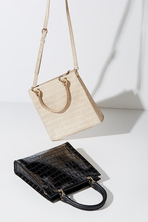 Anthropologie Bailey Croc-Effect Bag Tote