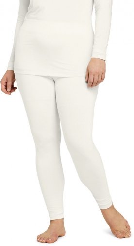 Lands' End Women's Plus Size Natural Thermaskin Pants - Lands' End - Ivory - 2X Trouser