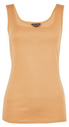 Dorothy Perkins Camel Pique Trim Vest Top
