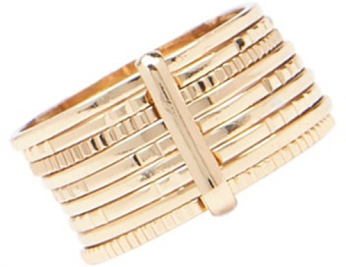 Forever21 Forever 21 Etched Stacked Gold Ring