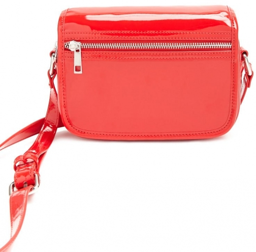 Forever21 Forever 21 Faux Patent Leather Crossbody , Red Crossbody Bag