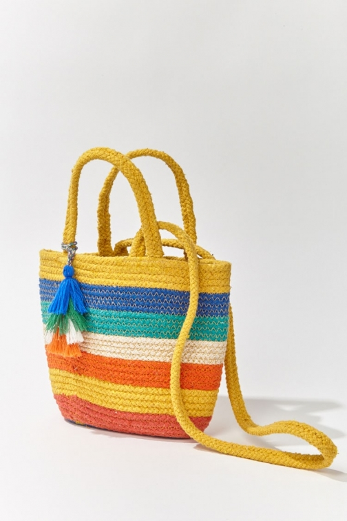 Forever21 Forever 21 Multicolor Bag , Yellow/multi Tote