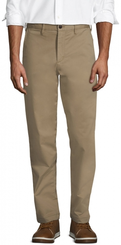 Lands' End Men's Stretch Traditional Fit Flannel Lined Knockabout Pants - Lands' End - Tan - 30 Chino