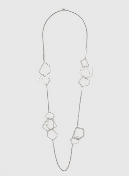 Dorothy Perkins Womens Geometric Link Rope - Silver, Silver Necklace