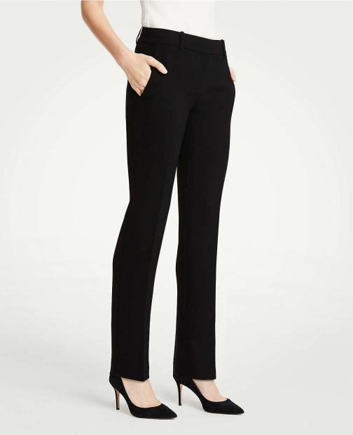 Ann Taylor The Straight Pant Doubleweave Suit