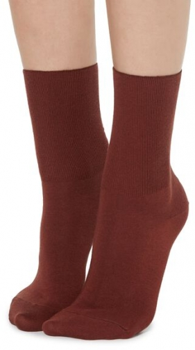 Calzedonia Short Cotton With Cashmere Woman Red Size 39-41 Sock