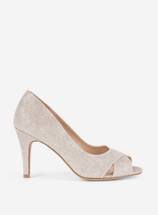 Dorothy Perkins Wide Fit Pink 'Clover' Peeptoe Shoes Court