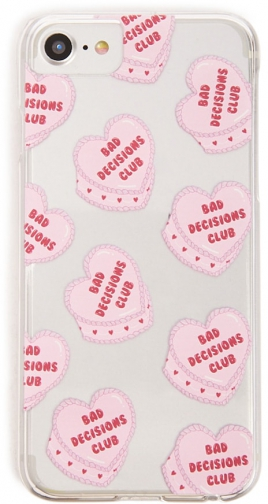 Forever21 Forever 21 Heart Graphic Phone For IPhone 6/7/8 , Pink/multi Case