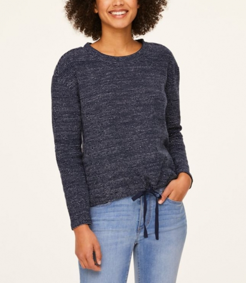 Loft Tweedy Drawstring Hem Top