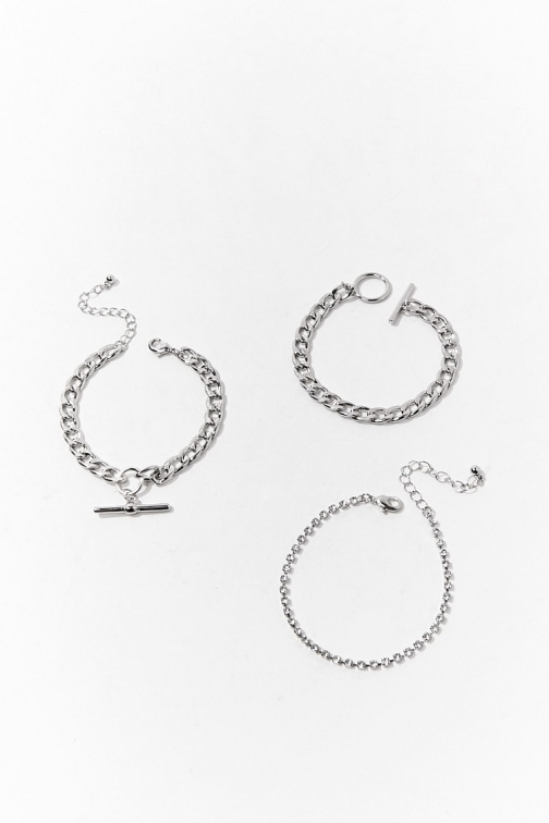Forever21 Forever 21 Toggle Chain Chunky , Grey Bracelet
