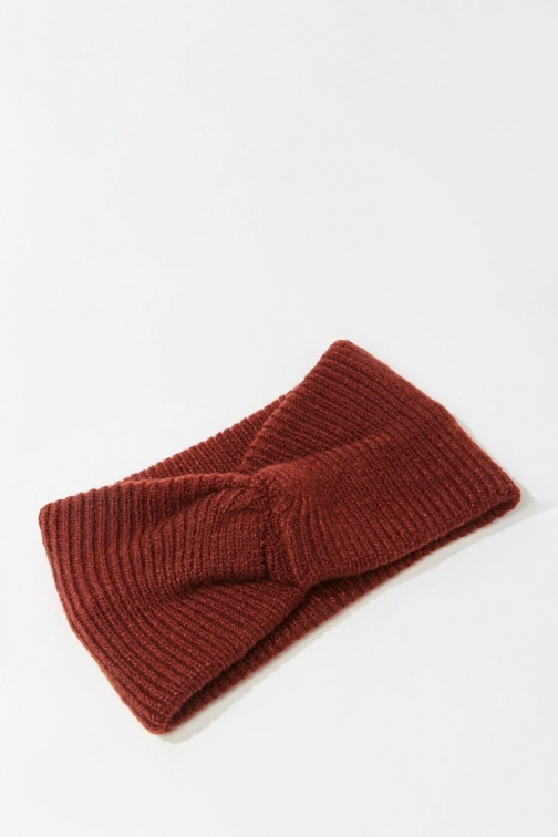 Forever21 Forever 21 Twisted Ribbed Headwrap , Burgundy Headwear