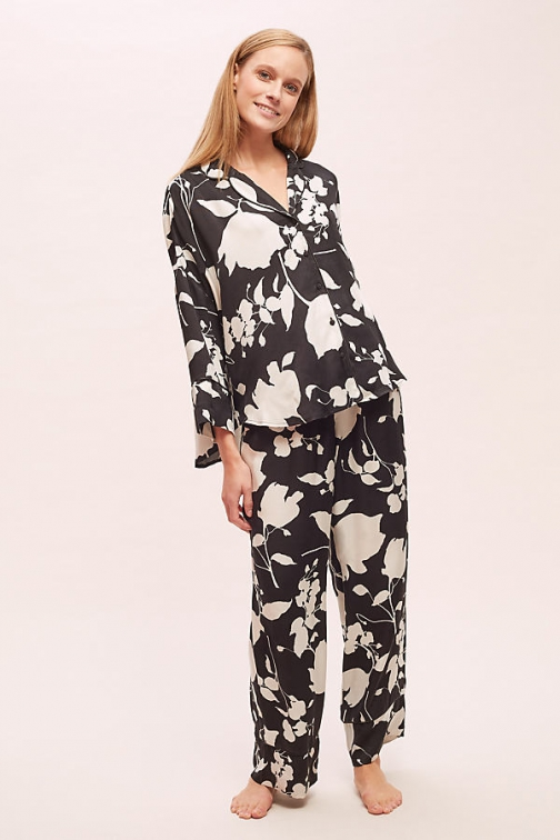 Anthropologie Floral-Print Sleep Trousers Trouser