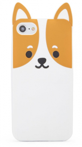 Forever21 Forever 21 Corgi Phone For IPhone 6/7/8 Brown/white Case