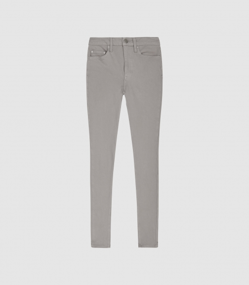 Reiss Skye - Bi-stretch High Rise Light Grey, Womens, Size 24 Skinny Jeans