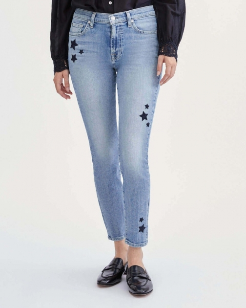 7 For All Mankind Womens Star Ankle Skinny Trio Size: 23 Trouser