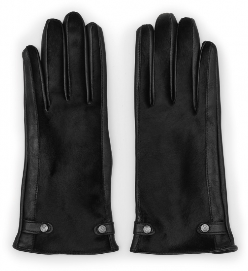 Reiss Jessica Touch - Dents Leather Black, Womens, Size L Glove