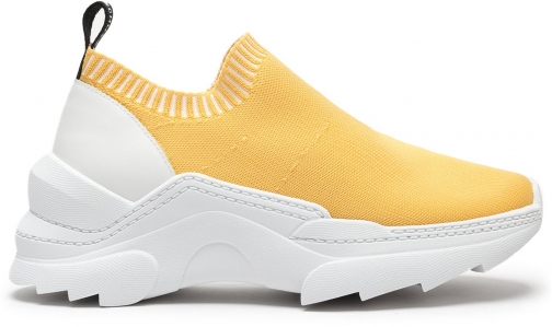 Schutz Shoes Evilyse Knit Sneaker - 5 Yellow KNIT/NAPA Trainer