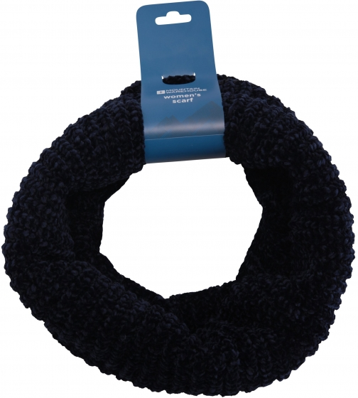 Mountain Warehouse Chenille Womens Snood - Navy Scarf