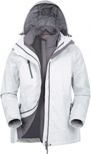 Mountain Warehouse Bracken Melange Womens 3 1 - White Jacket