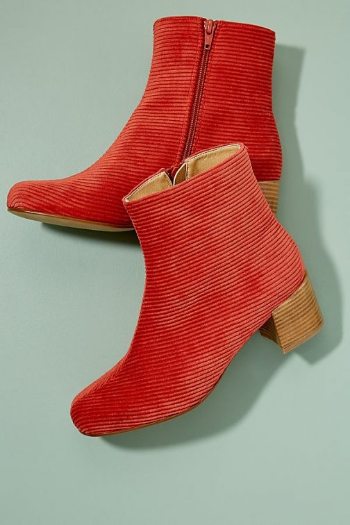 Anthropologie Tessa Corduroy Ankle Boot